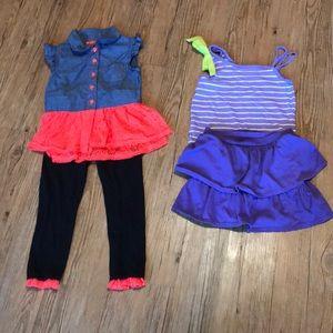 🌺Girls four piece bundle sz. 5T (2 outfits)🌺